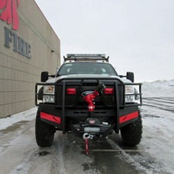 2011-16 Ford F-450/550 Fire Series with optional Receiver Hitch, Speaker Mount, and Flat Black powder coat